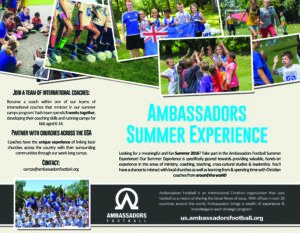 Summer Experience Flyer 2016